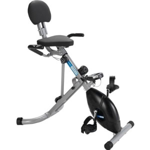 Pro Fitness Folding Recumbent bike is designed to save space.